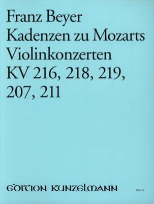 Kadenzen zu Mozarts Violinkonzerten KV 216, 218, 219, 207, 211 laflutedepan