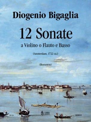 Diogenio Bigaglia - 12 Sonata a violino o flauto e basso - Sheet Music - di-arezzo.com