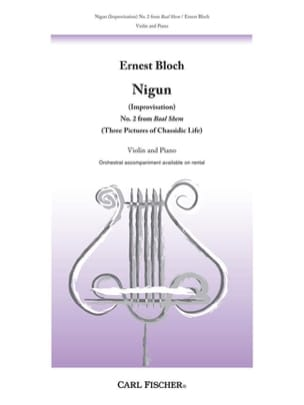 Ernest Bloch - Nigun Improvisation - Partition - di-arezzo.fr