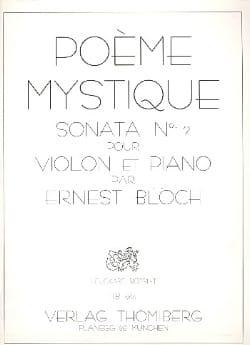 Ernest Bloch - Poem Mystique Sonata n ° 2 - Sheet Music - di-arezzo.co.uk