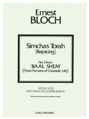 Simchas Torah Rejoicing BLOCH Partition Violon - laflutedepan