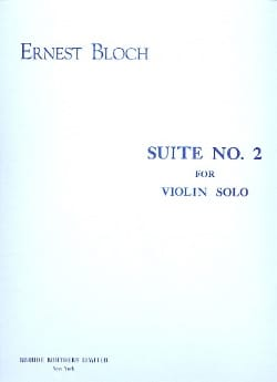 Suite n° 2 - Violin solo BLOCH Partition Violon - laflutedepan
