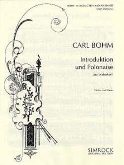 Carl Bohm - Introduktion und Polonaise - Partition - di-arezzo.fr