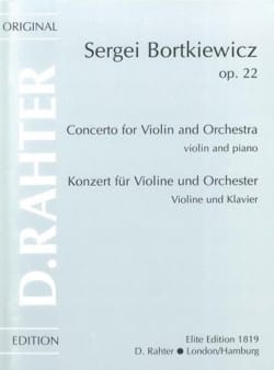 Sergei Bortkiewicz - Violin Concerto Op. 22 - Sheet Music - di-arezzo.com