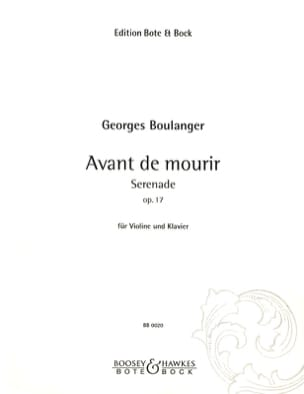 Georges Boulanger - Before Dying Op. 17 - Sheet Music - di-arezzo.com