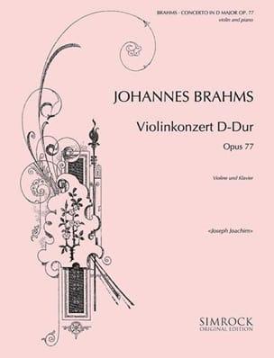 Violinkonzert D-Dur op. 77 BRAHMS Partition Violon - laflutedepan