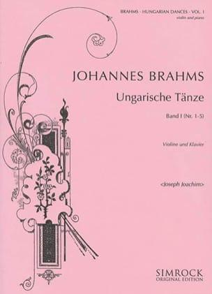 BRAHMS - Ungarische Tänze, Heft 1 n ° 1 - 5 - Partition - di-arezzo.com