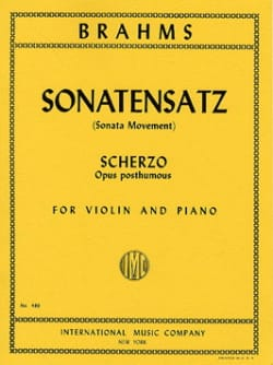 BRAHMS - Sonatensatz, Scherzo op. posth. - Sheet Music - di-arezzo.co.uk