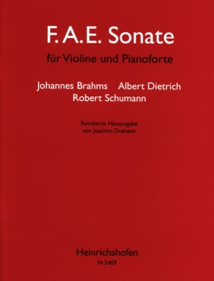 Brahms Johannes / Dietrich Albert / Schumann Robert - Sonata FAE - Partitura - di-arezzo.es