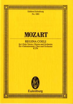 Wolfgang Amadeus Mozart - Regina Coeli (KV 276) - Partition - di-arezzo.fr