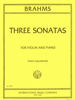 3 Sonatas for violin and piano - BRAHMS - Partition - laflutedepan.com