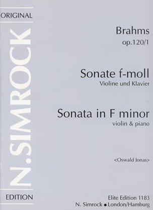 Sonate op. 120 n° 1 fa mineur - BRAHMS - Partition - laflutedepan.com