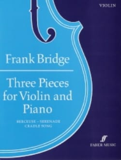 Frank Bridge - 3 Pieces - Partition - di-arezzo.fr