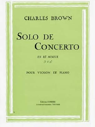 Charles Brown - Solo of Concerto in D minor - Sheet Music - di-arezzo.co.uk