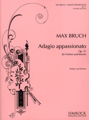 Adagio Appassionato op. 57 BRUCH Partition Violon - laflutedepan