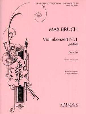 Violinkonzert g-moll op. 26 BRUCH Partition Violon - laflutedepan