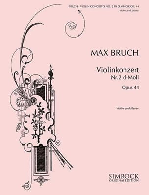 Max Bruch - Violinkonzert D-Moll n ° 2 op. 44 - Partition - di-arezzo.es