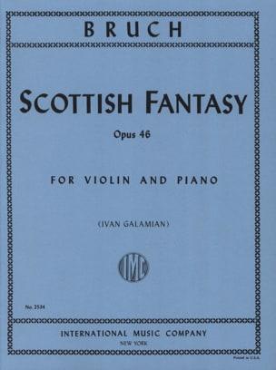 Schottische Fantasie op. 46 BRUCH Partition Violon - laflutedepan