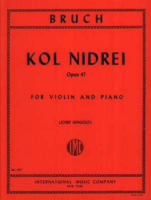 Max Bruch - Kol Nidrei Op. 47 - Sheet Music - di-arezzo.co.uk