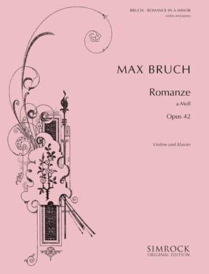 Max Bruch - Romanze A-Moll op. 42 - Partition - di-arezzo.fr