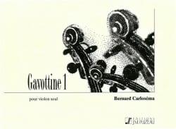 Gavottine 1 - Bernard Carloséma - Partition - laflutedepan.com