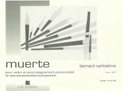 Bernard Carloséma - Muerte - Partition - di-arezzo.fr