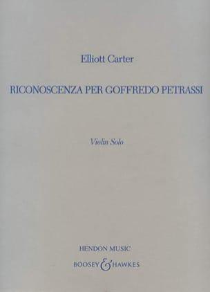 Elliott Carter - Riconoscenza per Goffredo Petrassi - Partition - di-arezzo.fr