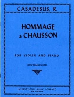 Hommage à Chausson op. 51 CASADESUS Partition Violon - laflutedepan