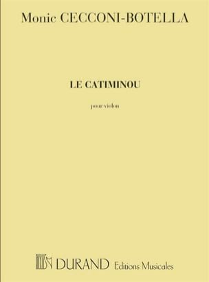Le Catiminou Monic Cecconi-Botella Partition Violon - laflutedepan