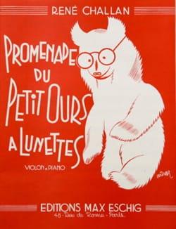 René Challan - Promenade du petit ours à lunettes - Partition - di-arezzo.fr