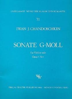 Iwan (Handoshkin) Chandoschkin - Sonate G-moll op. 3 n° 1 - Partition - di-arezzo.fr