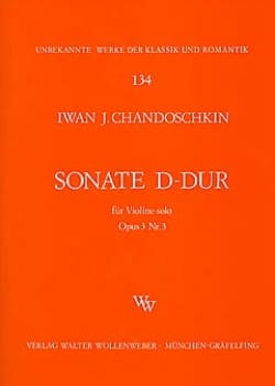 Iwan (Handoshkin) Chandoschkin - Sonate D-Dur op. 3 n° 3 - Partition - di-arezzo.fr