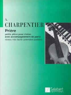 Arthur Charpentier - Prière - Partition - di-arezzo.fr