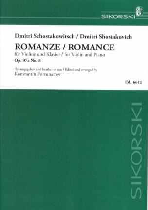 CHOSTAKOVITCH - Romance op. 97a, No. 8 - Sheet Music - di-arezzo.co.uk
