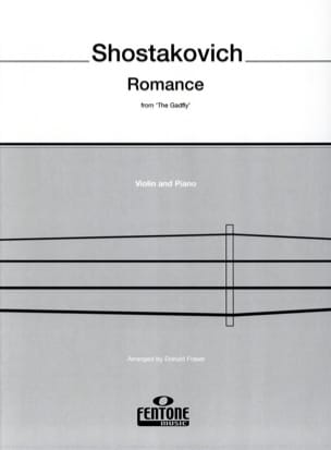 CHOSTAKOVITCH - Romance from The Gadfly - Violin - Partition - di-arezzo.fr
