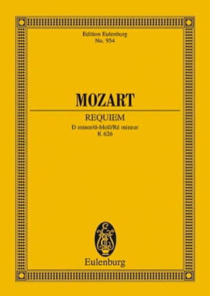 Requiem d-moll KV 626 - Conducteur MOZART Partition laflutedepan