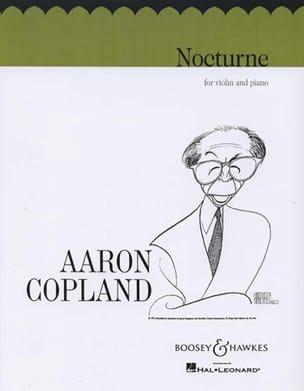 Nocturne COPLAND Partition Violon - laflutedepan