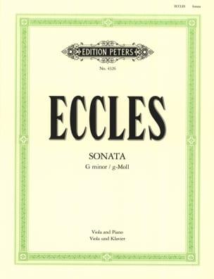 Sonate en Sol Mineur Henry Eccles Partition Alto - laflutedepan