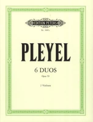6 Duos op. 59 - Ignaz Pleyel - Partition - Violon - laflutedepan.com