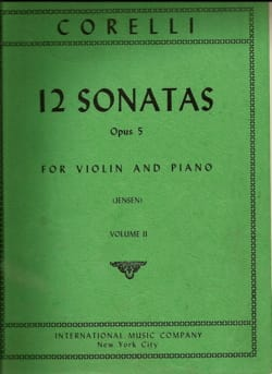 CORELLI - 12 Sonatas op. 5 - Volume 2 n ° 7 to 12 - Sheet Music - di-arezzo.com