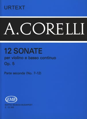 CORELLI - 12 Sonate Op. 5 Volume 2 7 a 12 - Partitura - di-arezzo.it