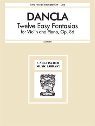 12 Easy Fantasias op. 86 DANCLA Partition Violon - laflutedepan