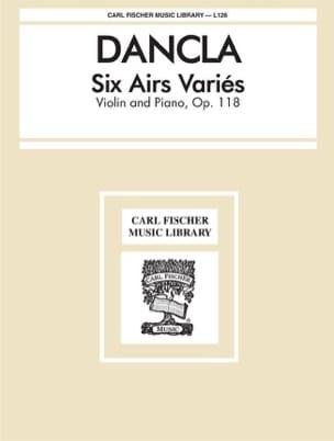 6 Airs variés op. 118 DANCLA Partition Violon - laflutedepan