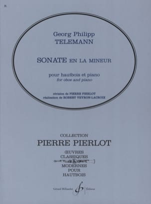 Gerorg Philipp Telemann - Sonata in A minor - Oboe - Sheet Music - di-arezzo.co.uk