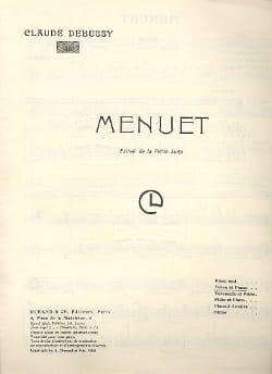 Menuet - DEBUSSY - Partition - Violon - laflutedepan.com