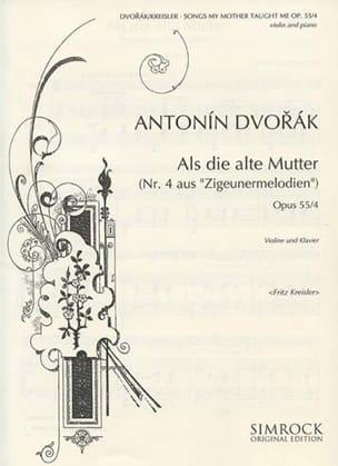 DVORAK - Songs my mother taught me op. 55 n ° 4 - Sheet Music - di-arezzo.co.uk
