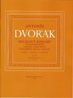 Antonin Dvorak - Concerto Violon op. 53 en la mineur - Partition - di-arezzo.fr