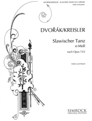 Dvorak Antonin / Kreisler Fritz - Slavonic dance-themes n° 2 in E minor - Partition - di-arezzo.fr