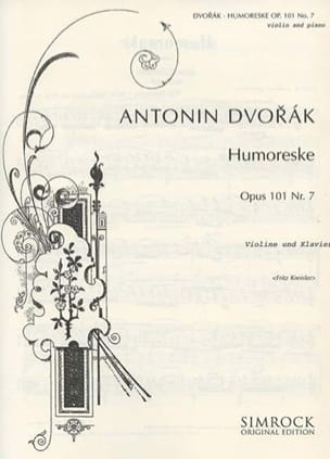 DVORAK - Humoreske op.101 No. 7 Kreisler - Sheet Music - di-arezzo.co.uk