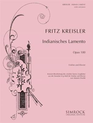 Dvorak Antonin / Kreisler Fritz - Indian Lament Kreisler - Partition - di-arezzo.fr